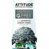 2 in 1 Sampon si gel de dus bio Attitude 335 ml